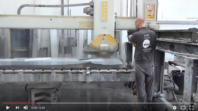 gmm cutting black granite