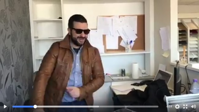 rock and co's brown jacket, fun video