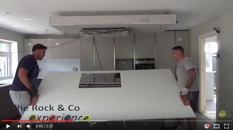 video of quartz worktop installation