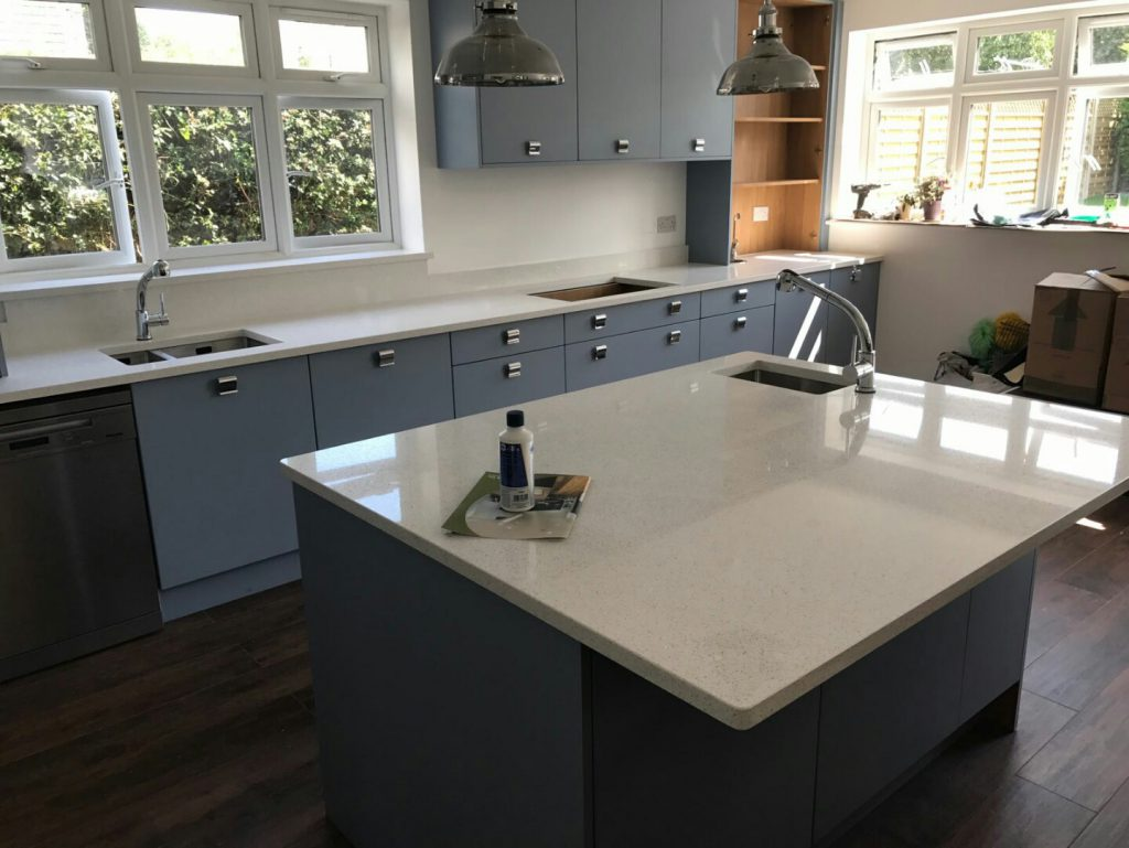 bianco stella white starlight quartz worktops rockandco