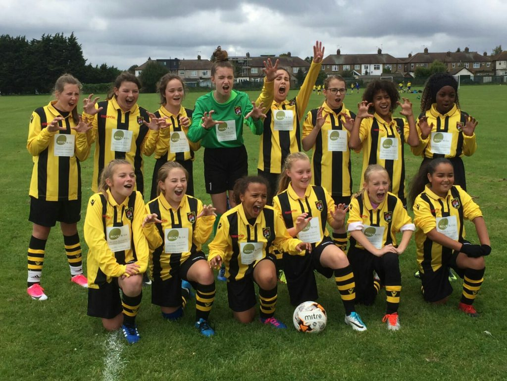 tigers jfc girls football team rock and co