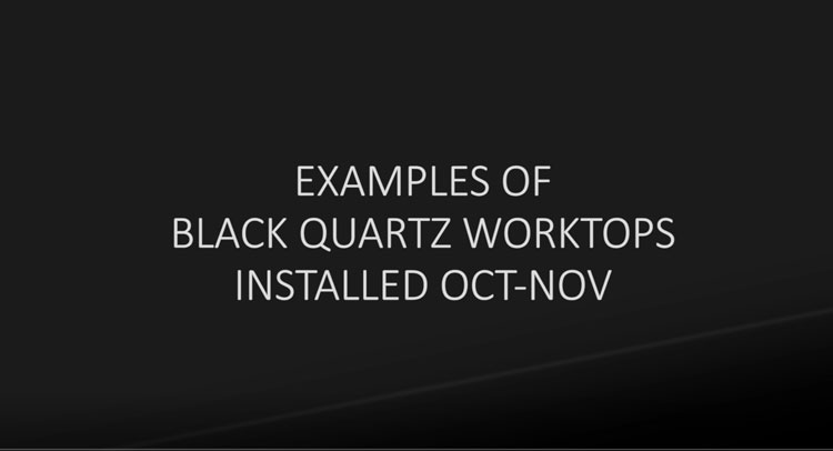 black quartz worktop examples